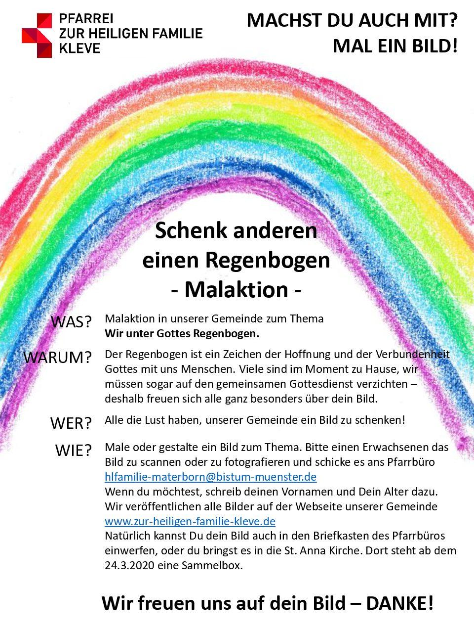 Regenbogen – Malaktion