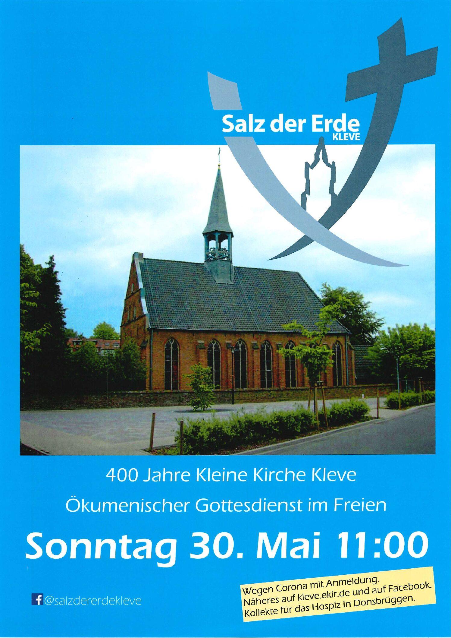 Die evangelische Gemeinde Kleve lädt ein