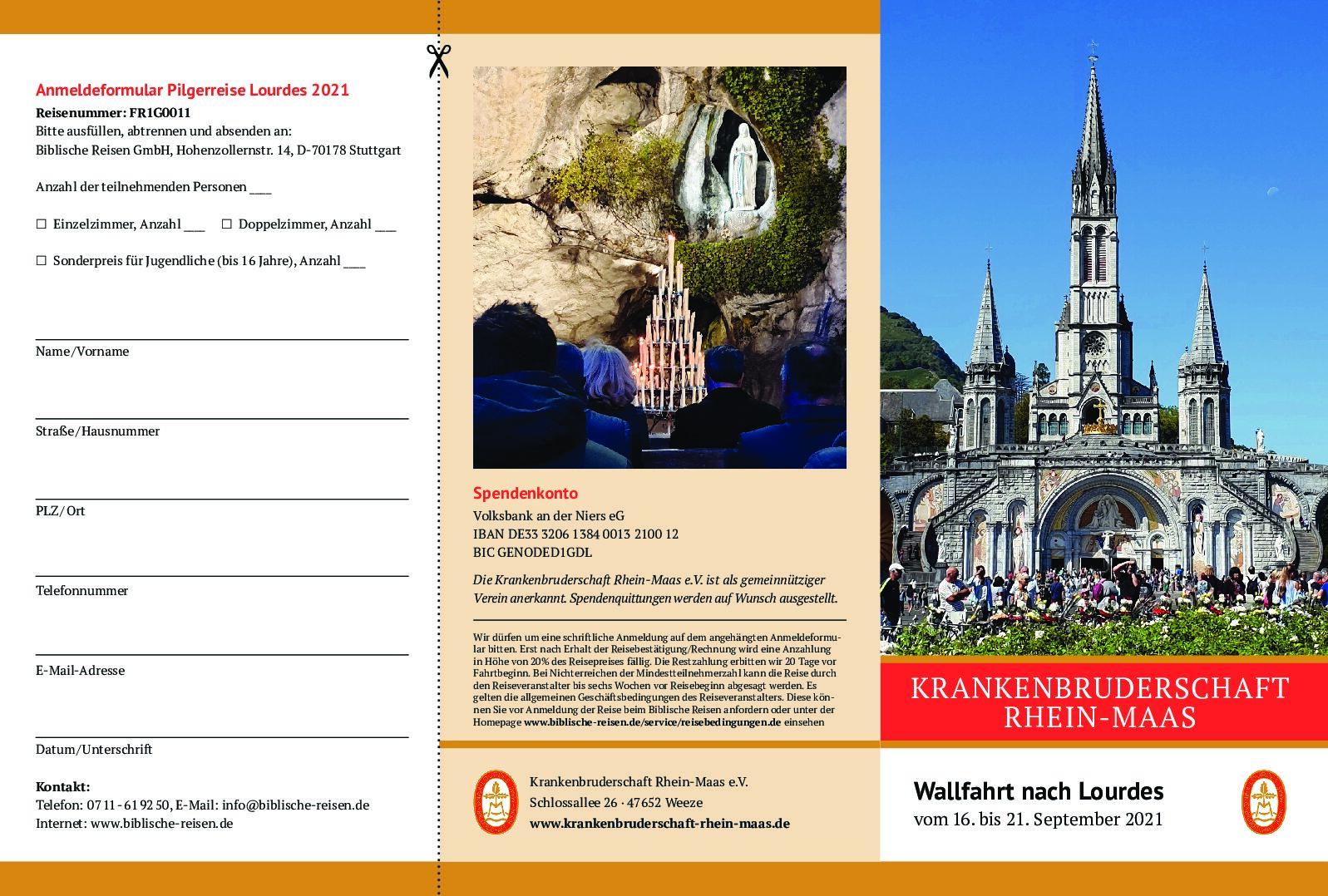 Lourdes-Wallfahrt im September 2021